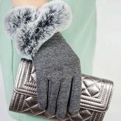 Women's Winter Gloves Imitation Fur Thin Wrist Gloves Warm Fake Rabbit Fur Mittens Gloves Gloves Size One Size Color gray E Commerce, Mitten Gloves, Mittens, Women's Gloves, 1920s Fashion Women, Womens Fashion, Gloves Fashion, Cashmere Gloves, Outdoor Fashion