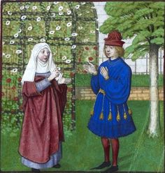 Love in the Garden - 1400s Hortus Conclusus Garden or Garden of Love c 1487-95 Artist Unknown British Library, London, Harley 4425 f. 12v Garden of Earthly Pleasures This is a manor house garden of the medieval period. The non religios secluded garden, or …