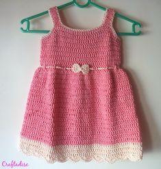 Free Crochet Pattern: Crochet Summer Peach Toddler Dress ༺✿ƬⱤღ  https://www.pinterest.com/teretegui/✿༻