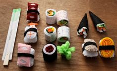Children's Play Felt Food Sushi by fairviewpl on Etsy