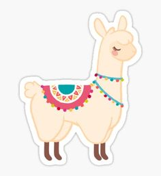 Llama stickers featuring millions of original designs created by independent artists. Alpacas, Kawaii Stickers, Laptop Stickers, Cute Stickers, Cartoon Stickers, Kawaii Drawings, Cute Drawings, Printable Stickers, Planner Stickers
