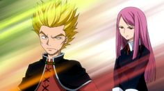 Fairy Tail young Makarov and young Porlyusica