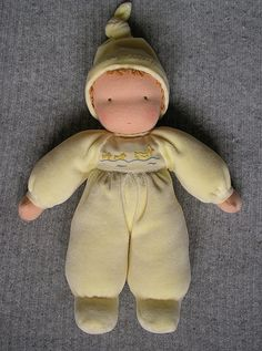 Waldorf soft doll. Love the sweet simple face
