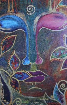 """""""We are all part of the same rainbow. We are all reflections of each other. As unique and diverse as we are in character and skills, the source of all creation is as multidimensional as we are."""" ~ Suzy Kassem © Angela Millar Soul Art ॐ lis Buddha Zen, Gautama Buddha, To Bem To Zen, Great Paintings, Original Paintings, Domino Crafts, Buddha Painting, Soul Art, Zen Art"""
