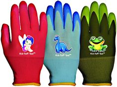 Bellingham Glove Kid Tuff, Colors May Vary: All the great features of the popular adult-sized Garden Grip gloves, sized for kids! Comfortable seamless knit liner with latex palm coat. Color of the product may vary. Kids Gardening Gloves, Gardening Books, Powdery Mildew, Black Friday Specials, Australian Garden, Garden Beds, Projects For Kids, Snug, Knitting