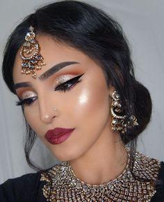37 Ideas Indian Bridal Makeup India Make Up For 2019 Indian Makeup Looks, Bridal Makeup Looks, Bridal Hair And Makeup, Bride Makeup, Indian Makeup Style, Indian Makeup And Jewelry, Indian Party Makeup, Indian Eye Makeup, Bollywood Makeup