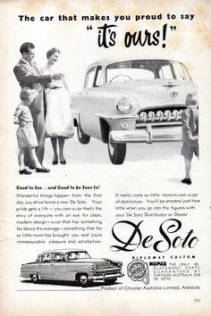 https://flic.kr/p/UXm2mo   1954 DeSoto Diplomat Custom Sedan Chrysler Australia Dated October 1955 Ad Aussie Original Magazine Advertisement