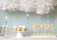 Sprinkle Baby Shower Party Ideas- Some showers are lighter than others! When mama is welcoming subsequent babies, she may not find it appropriate to throw a full-fledged shower. That's where a sprinkle comes into play.