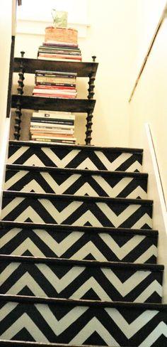 chevron stairs tini hous, chevron stair, hous project