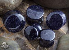 Blue goldstone plug <--- So pretty!