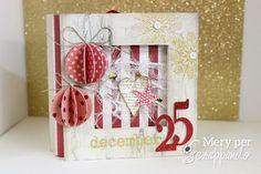 Christmas Mini Albums, Christmas Scrapbook, Christmas Minis, Christmas Crafts, December Daily, Mini Scrapbook Albums, Scrapbook Cards, Scrapbooking Ideas, Pop Up Cards