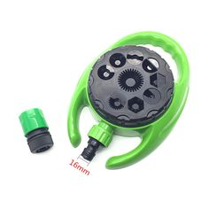 9-hole Multi-angle Lawn Sprinkler Irrigation Sprinklers Watering The Garden 16mm Adjustable Rotary Sprinkler Hose Connection