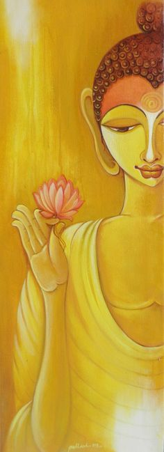 Buy Buddha artwork number a famous painting by an Indian Artist Pallavi Walunj. Indian Art Ideas offer contemporary and modern art at reasonable price. Lotus Buddha, Art Buddha, Buddha Artwork, Buddha Painting, Buddha Zen, Buddha Buddhism, Buddhist Art, Nirvana Buddhism, Indian Art Paintings