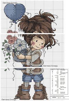 Cross Stitch For Kids, Cute Cross Stitch, Cross Stitch Rose, Cross Stitch Flowers, Cross Stitch Charts, Cross Stitch Patterns, Cross Stitching, Cross Stitch Embroidery, Everything Cross Stitch