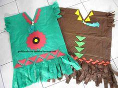 disfraz de indio apache para niños escolares