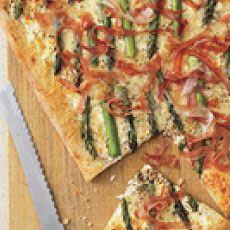 Asparagus, Cheese and Prosciutto Pizza Recipe