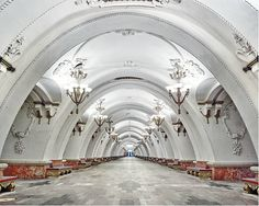 Canadian architect turned photographer David Burdeny presents a collection of images showcasing the stunning and elaborate Moscow and St. Petersburg Metro