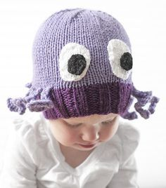 f85c8d7229701 Free Knitting Pattern for Octopus Baby Hat - This adorable baby hat by  Cassandra May at