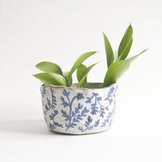 Image of Cobalt Leafy Planter