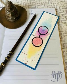 Creative Bookmarks, Cute Bookmarks, Bookmark Craft, Bookmark Ideas, Harry Potter Bookmark, Theme Harry Potter, Harry Potter Diy, Harry Potter Painting, Harry Potter Drawings
