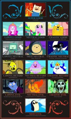 Adventure Time... D style alignment
