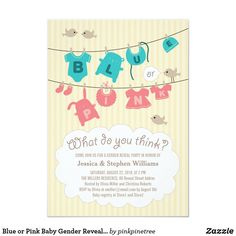 Shop Baby Gender Reveal Party Invitation Stylish Grey created by pinkpinetree. Personalize it with photos & text or purchase as is! Gender Reveal Party Invitations, Baby Gender Reveal Party, Baby Shower Invitations, Zazzle Invitations, Invitation Cards, Invites, Create Your Own Invitations, Reveal Parties, Baby Design