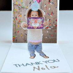 Pop-Up Photo Thank You Card