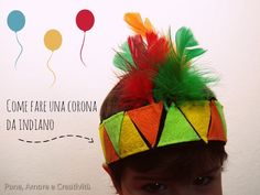 come fare una corona da indiano Indiana, Costumes, Masks, Crafts For Kids, Corona, Dress Up Clothes, Fancy Dress, Men's Costumes, Suits