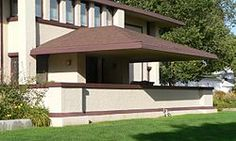LOVE Frank Llyod Wright Houses! This one was built in my mom's hometown in McCook, NE Harvey P. Sutton House