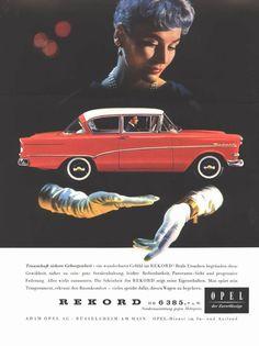 Opel Rekord vintage car advertisement