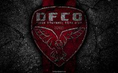 Lataa kuva Dijon, logo, art, Liga 1, jalkapallo, Dijon FCO, football club, Ligue 1, grunge, FC Dijon