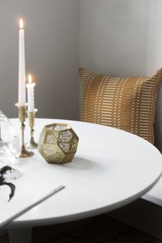 Etch candleholder by Tom Dixon. From the blog SEES by Sanni.