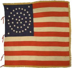 Rare Flags - Antique American Flags, Historic American Flags Vintage Flag, Vintage Crafts, American History, American Flag, American Pride, Yellow Paint Colors, Patriotic Images, Us Flags, I Love America