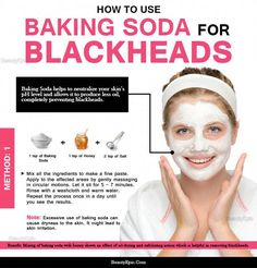 How to Use Baking Soda for Blackheads? Though blackheads are nothing to worry about but who doesn't want a clear and flawless skin? Try simple remedies with Baking Soda for Blackheads at home Beauty Care, Beauty Skin, Beauty Hacks, Beauty Ideas, Diy Beauty, Baking Soda Face, Home Remedies For Hair, Hair Remedies, Skin Care