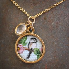 Original Hand Painted Oil Charm Pendant Necklace by CharmedbyHeidi, $36.00