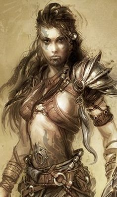 barbarian woman red hair - Google Search