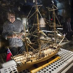 Mysterious: The pirate ship Whydah Gally, modeled here, went down in a squally off Cape Cod nearly 300 years ago