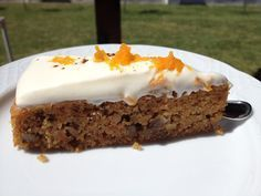 Sin gluten: Sin gluten: Tarta de zanahoria Gluten And Diary Free Recipes, Gluten Free Treats, Vegan Gluten Free, Gluten Free Pastry, Gluten Free Carrot Cake, Foods With Gluten, Healthy Sweets, Food And Drink, Yummy Food