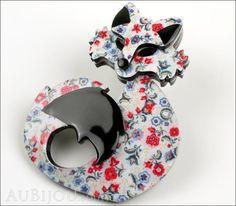 Erstwilder Fox Brooch Pin She's so Foxy Floral Print Side