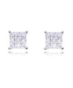 brinco prata coleção 2017 com zirconias cristais e banho de rodio semi joias modernas