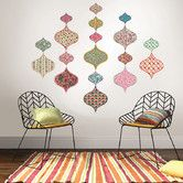 Found it at Wayfair - Boho Chic Ogee 18 Piece Wall Decal Set