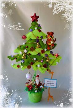 0 (472x700, 359Kb) Clear Christmas Ornaments, Handmade Christmas Decorations, Christmas Centerpieces, Felt Ornaments, Holiday Crafts, Christmas Sewing, Christmas Toys, Christmas Projects, Father Christmas