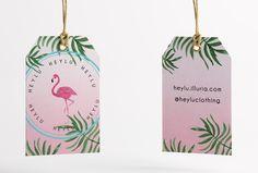 Identidade Visual   HeyLu tags etiquetas roupa E Design, Logo Design, Love Logo, Hang Tags, Visual Identity, Logo Inspiration, Branding, Joy, Holiday Decor