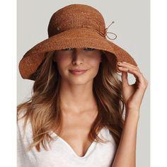 "Helen Kaminski ""Provence 12"" Crochet Hat 5"" Brim ❤ liked on Polyvore"