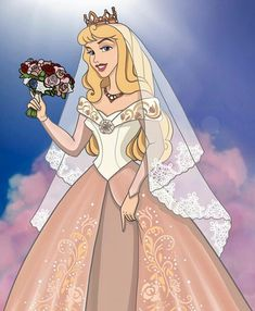 Princess Aurora as a beautiful Princess Bride on her Wedding Day Disney Princess Aurora, Disney Princess Tattoo, Punk Princess, Princess Wedding, Walt Disney, Disney Magic, Disney Pixar, Disney Dream, Disney Love