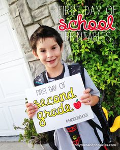 First Day of School Free Printables - Popsicle Blog #school #backtoschool #printables