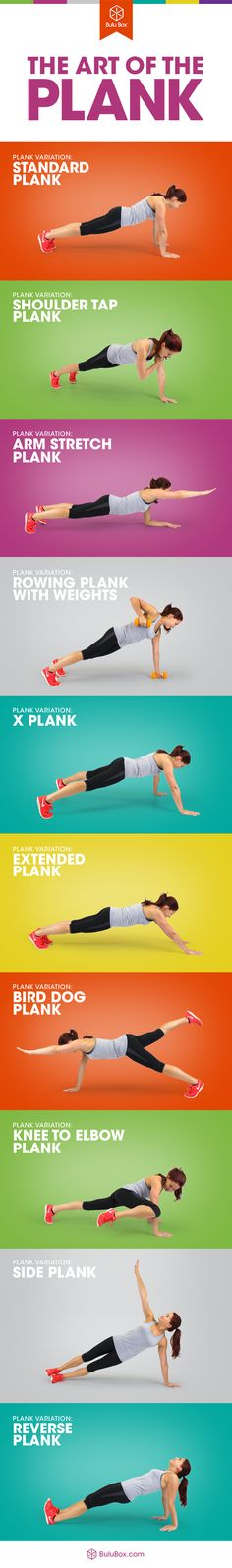 Want 6 pack abs and toned arms? These plank variations will challenge you...