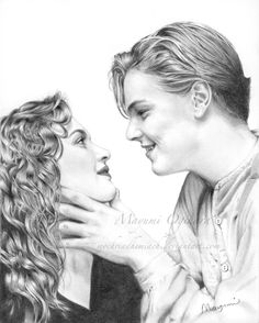 """Kate Winslet as Rose DeWitt Bukater from """"Titanic"""" Photoshop + Bamboo tablet ~ Used a screenshot as reference Rose Titanic Tattoo, Titanic Drawing, Titanic Art, Titanic Movie, Rms Titanic, Titanic Photos, Amazing Drawings, Art Drawings, Pencil Sketch Drawing"""