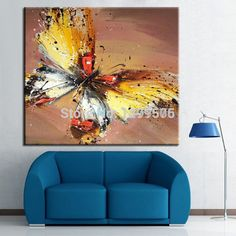 abstrakte moderne malerei schmetterling leinwand kunstwerk, Hause ideen