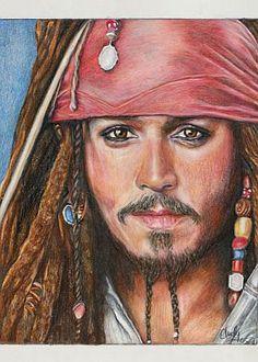 Captain Jack Sparrow / Johnny Depp Print of by CJepsenFineArt